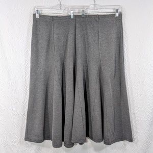 CJ Banks Grey Tulip Gusset Skirt